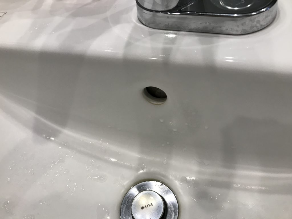 洗面台穴の清掃